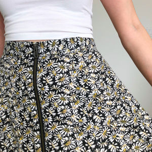 Pins & Needles Skirts - Pins and Needles Black Daisy A Line Skirt